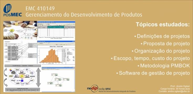 EMC 410149 - Gerenciamento do desenvolvimento de produtos