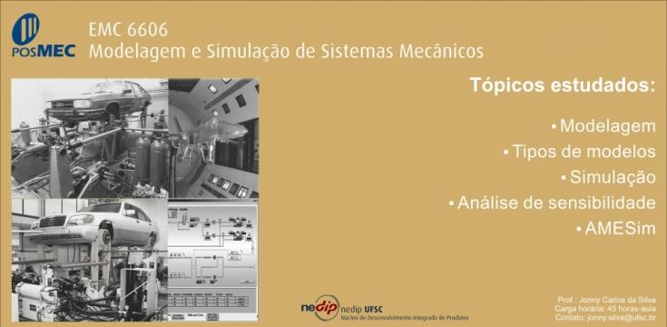EMC 6606 - Modelagem e simulação de sistemas mecânicos